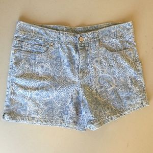 Faded Glory Paisley Jean Shorts